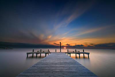 Sunset Over Barnegat Bay Poster by Rick Berk