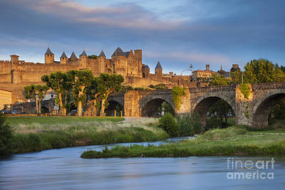 Sunset Over Carcassonne Poster by Brian Jannsen