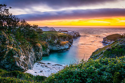 Sunset Over China Cove Poster