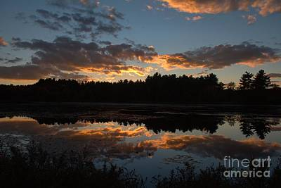 Sunset Over Cranberry Bogs Poster