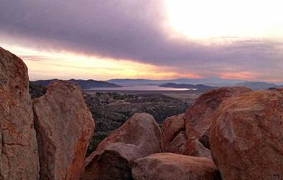 Sunset Over Diamond Valley Lake Poster
