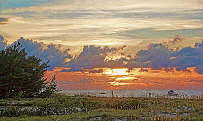 Sunset Over Greer Island By H H Photography Of Florida  Poster by HH Photography of Florida