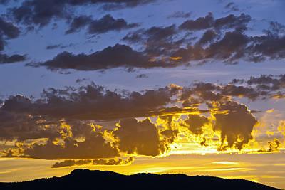 Sunset Over Horsetooth Rock Poster