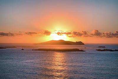 Sunset Over Inis Tuaisceart Poster