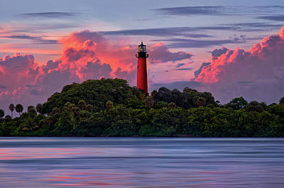 Sunset Over Jupiter Lighthouse, Florida Poster by Justin Kelefas