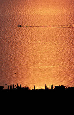 Sunset Over Kardamyli, Mani, Greece Poster