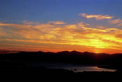 Sunset Over Lake Champlain From Mount Philo Poster by John Burk