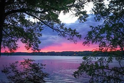Sunset Over Lake Cherokee Poster