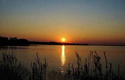 Sunset Over Lake Norman Poster