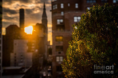 Sunset Over Manhattan New York City Poster