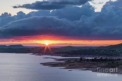 Sunset Over Millerton Lake  Poster