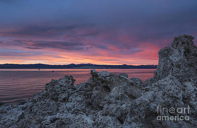 Poster featuring the photograph Sunset Over Mono Lake by Sandra Bronstein