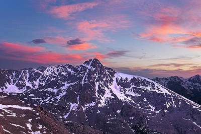 Sunset Over Mt. Of The Holy Cross Poster by Aaron Spong