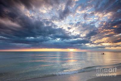 Sunset Over Naples Beach II Poster by Brian Jannsen