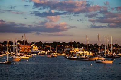 Sunset Over Newport Poster
