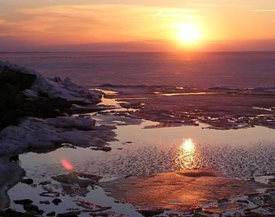 Sunset Over Oneida Lake - Horizontal Poster
