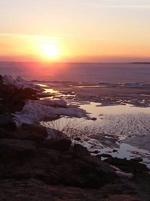 Sunset Over Oneida Lake - Vertical Poster