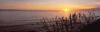 Sunset Over Pacific Ocean Near Santa Poster by Panoramic Images