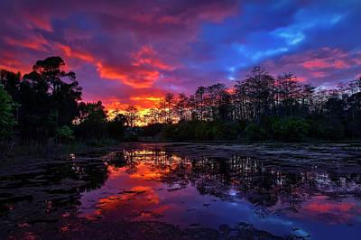 Sunset Over Riverbend Park In Jupiter Florida Poster