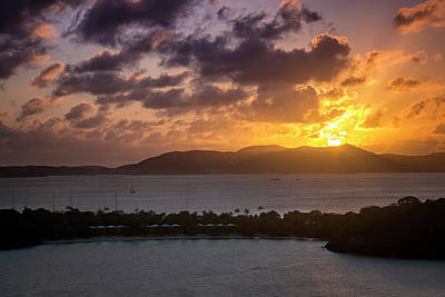 Sunset Over St. Thomas Poster