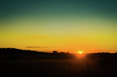 Sunset Over The Prairie Poster