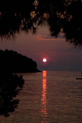 Sunset Over The Sea - Croatia Poster