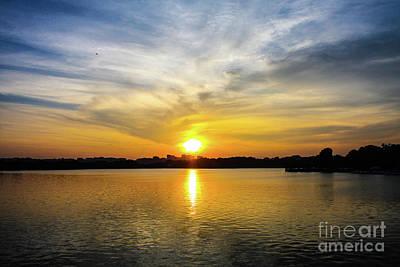 Sunset Over The Tidal Basin Poster