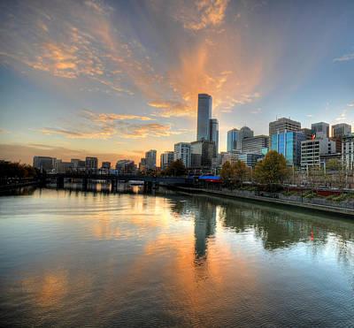 Sunset Over The Yarra River, Melbourne Poster