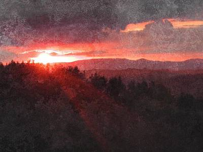 Sunset Over Umbria Poster by Dorothy Berry-Lound