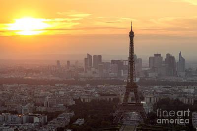 sunset Paris Poster