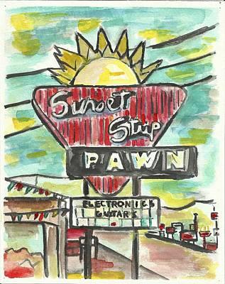 Sunset Pawn Poster by Matt Gaudian