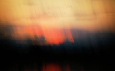 Sunset Raining Down Poster