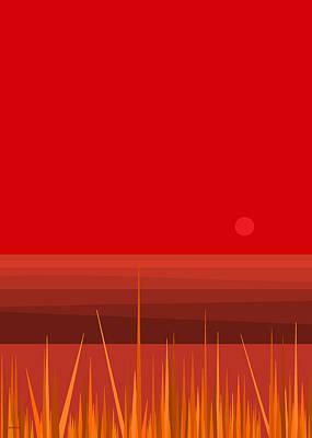 Sunset Reds Poster