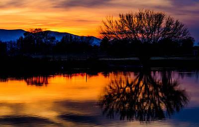 Sunset Reflections Poster by Joy McAdams