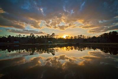 Sunset Reflections Poster by Linda Unger