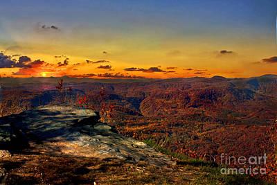Sunset Rock Beauty Poster by Jeff McJunkin