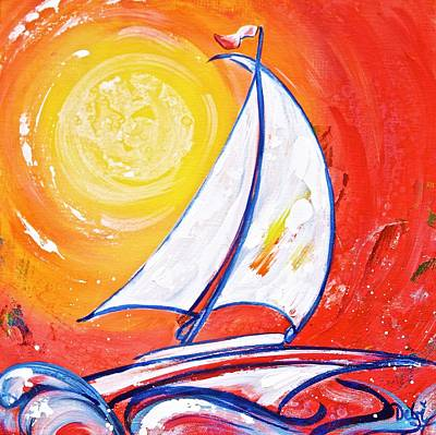 Sunset Sail Poster by Debi Starr