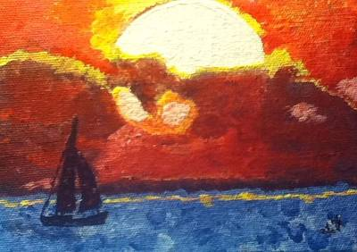 Sunset Sail Poster