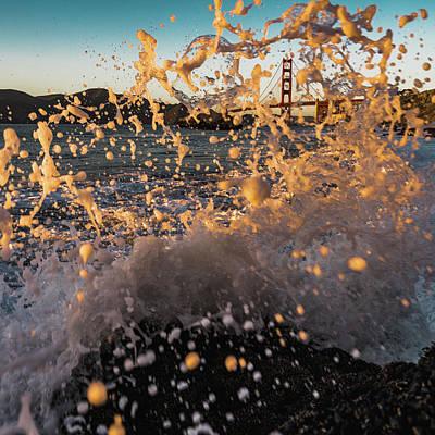 Sunset Splash Poster by Alpha Wanderlust
