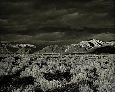 Sunset Storm - B-w Poster by Charles Muhle