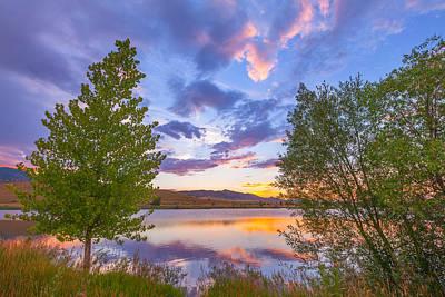 Sunset Stroll Along The Lake Poster by Darren White
