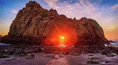 Sunset Through  Poster