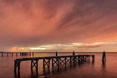 Sunset Thru Storm Clouds Poster