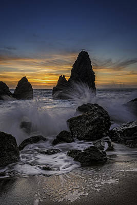 Sunset Tide On Rodeo Beach Poster by Rick Berk