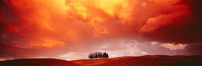 Sunset, Tuscany, Val Dorcia, Italy Poster by Panoramic Images