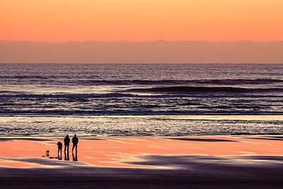 Sunset Walk Poster by Todd Klassy