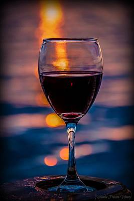Poster featuring the photograph Sunset Wine by Michaela Preston