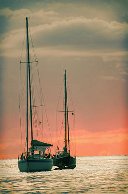 Sunset Yachts Poster