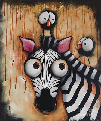 Sunset Zebra Poster by Lucia Stewart
