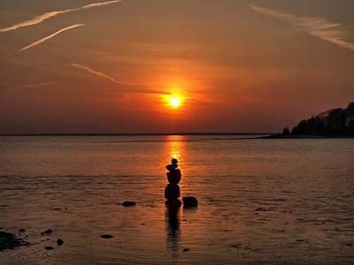 Sunset Zen Poster